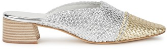 Miista Vivyan 40 gold and silver leather mules