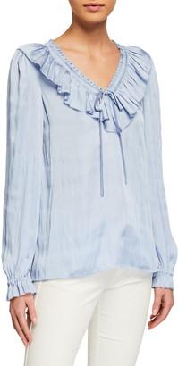 Paige Aliza Long-Sleeve Ruffle Blouse