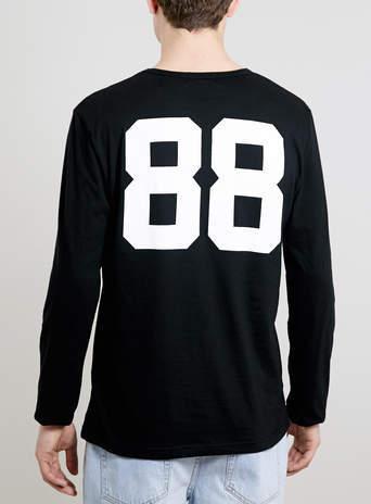 Topman Black 88 Reigners Long sleeve T-Shirt