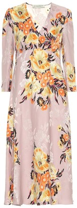 Etro Floral silk-blend midi dress