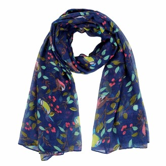 Kakaly Womens Butterfly Print Scarf - Ladies Celebrity Designer Scarf Soft Lightweight Long Large Wrap Fashion Style All Seasons Scarves Shawl Lovely Gift (90 x 180cm