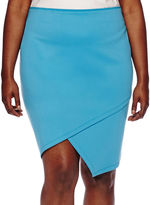 Bisou Bisou Asymmetrical Pencil Skirt - Plus