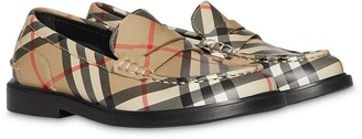 BURBERRY KIDS Vintage check Leather Loafers