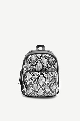 Ardene Mini Snakeskin Print Backpack