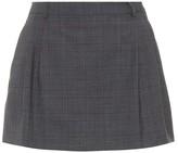Miu Miu Checked wool miniskirt