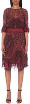 Etro Paisley-print ruffled silk-chiffon dress
