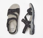 Earth Origins Suede Asymmetrical Sport Sandals - Hailey Holland