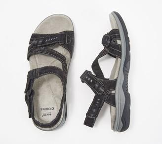 Earth Origins Suede Asymmetrical Sport Sandals - Hailey Holland