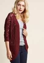 ModCloth Library, Secondary, Tertiary Cardigan in Burgundy in XS