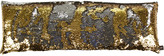 Aviva Stanoff Two Tone Mermaid Sequin Cushion - Silver/Gold - 35x100cm