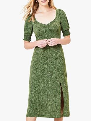 Oasis Animal Print Midi Dress, Green