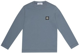 Stone Island Junior Logo cotton-jersey T-shirt