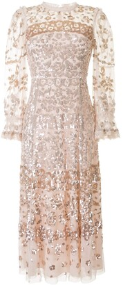 Needle & Thread Sequin Embellished Tulle Dress