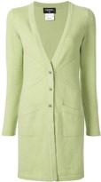 Chanel Pre Owned cashmere buttoned elongated cardigan