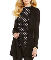 Investments Long Sleeve Open-Front Cardigan