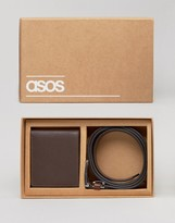 Asos Gift Set With Leather Wallet and Belt