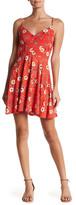 Socialite V-Neck Crossback Floral Print Dress