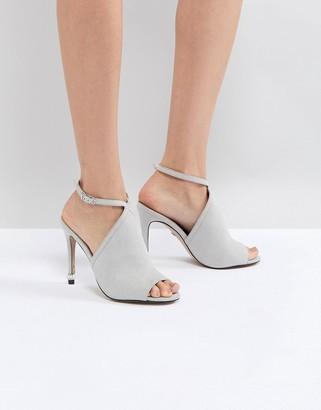 Carvela Strappy Peep Toe Shoe-Grey