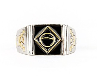 Serge Denimes Silver Two Tone Rio Ring