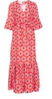 La DoubleJ V Curly Swing Crepe Wrap Dress