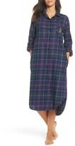 Lauren Ralph Lauren Women's Plaid Flannel Sleep Shirt
