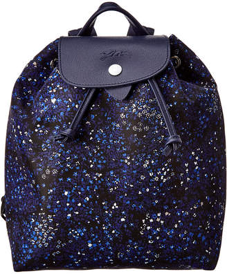 Longchamp Le Pliage Floral Print Nylon Backpack