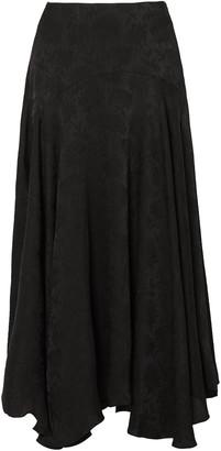 Chloé Plisse-jacquard Midi Skirt