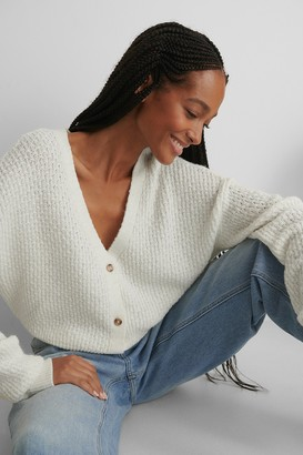 NA-KD Dropped Shoulder Knitted Buttoned Cardigan