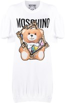 Moschino frame Teddy-print knitted dress