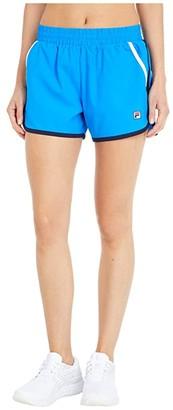 Fila Heritage Tennis Shorts (Electric Blue/Navy/White) Women's Clothing