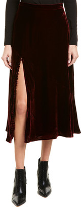 Nicholas Velvet Silk-Blend A-Line Skirt