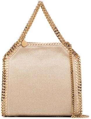 Stella McCartney Falabella metallic woven mini tote bag
