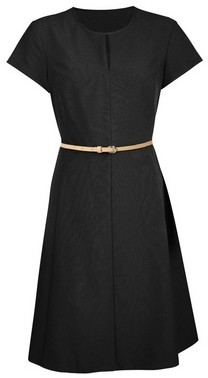 Dorothy Perkins Womens Black Belted Fit And Flare Dress, Black