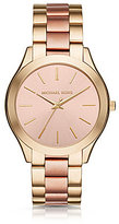 Michael Kors Slim Runway Stainless Steel 3 Hand Bracelet Watch