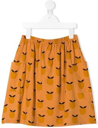 Emile et Ida Orange Print Mini Skirt