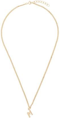 "MSGM ""M"" pendant chain link necklace"
