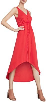 BCBGMAXAZRIA High-Low Button-Front Dress