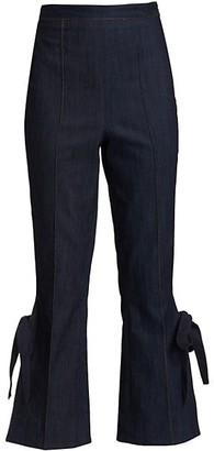 Cinq à Sept Lou Tied Flare-Leg Jeans