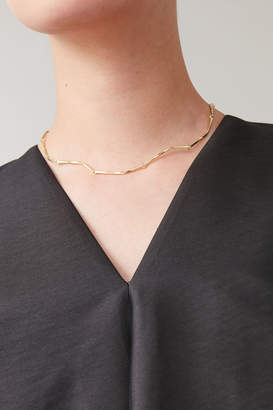Cos GOLD-PLATED TWISTED CHAIN NECKLACE