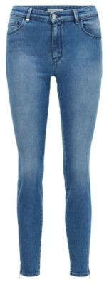 HUGO BOSS Skinny-fit jeans in stretch denim with zipped hems