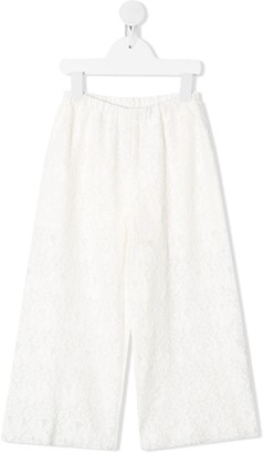 Il Gufo Macrame Lace Wide-Leg Trousers