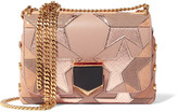 Jimmy Choo Lockett Petite Patchwork Suede, Leather And Elaphe Shoulder Bag - one size