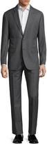 Zanetti Men's Napolik Wool Sharkskin Notch Lapel Suit