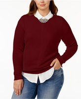 Charter Club Plus Size Cashmere Crew-Neck Sweater, Created for Macy's