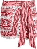 DODO BAR OR Aviya eyelet-embellished mini wrap skirt