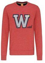 HUGO BOSS Wariety Cotton Applique Sweatshirt L Red