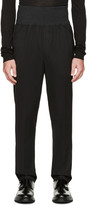 Thamanyah Black Accent Waistband Trousers