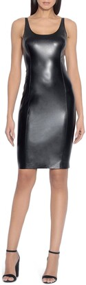 Susana Monaco Faux Leather Sheath Dress