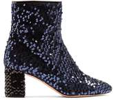 Rochas Sequin-embellished ankle boots