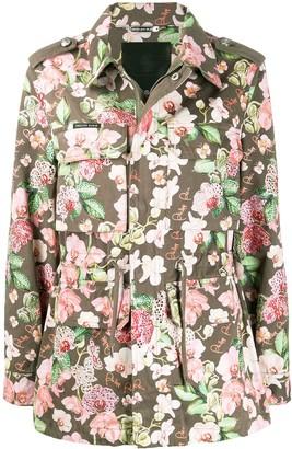 Philipp Plein Floral Print Cargo Jacket